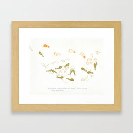more work for hire Framed Art Print