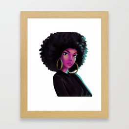 purple wave Framed Art Print