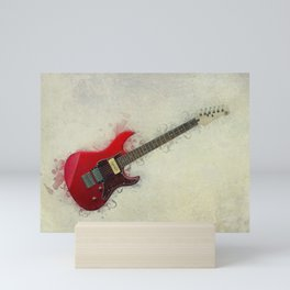 Electric Guitar Art Mini Art Print
