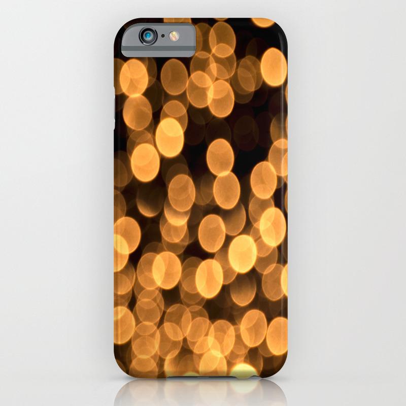 Golden Bokeh Light On A Black Background Decor Society6 Iphone Case