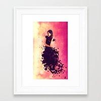breaking Framed Art Prints featuring Breaking by Roslyn Erinn Abbedonn
