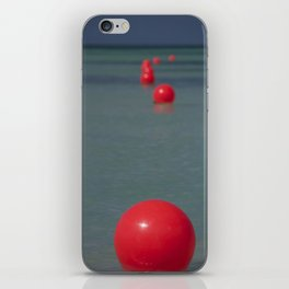 Red Buoys iPhone Skin