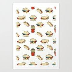 Fast Food Pattern Art Print