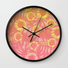Sunflower Party #4 Wall Clock