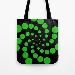 green fat spiral Tote Bag