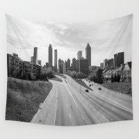 atlanta Wall Tapestries featuring Atlanta by Trey Visions