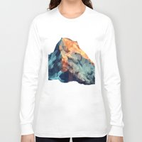 low poly Long Sleeve T-shirts featuring Mountain low poly by Li9z