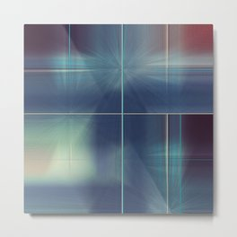 Distresed Denim Abstract Line Design Metal Print