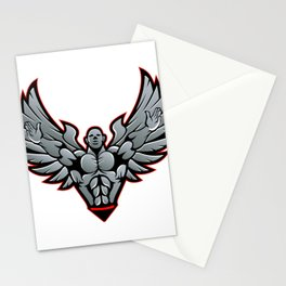 Symbol for gym and fitness Stationery Cards