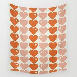 Bubblegum Hearts Wall Tapestry
