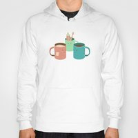 cup Hoodies featuring Mugs by Teo Zirinis
