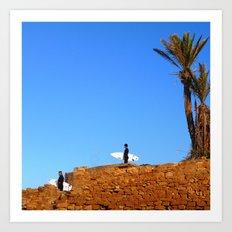 Morocco Surfers Art Print
