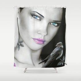 'Purple Aura' Shower Curtain
