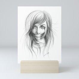 Keep smiling for me Mini Art Print
