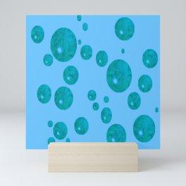 Quelques gouttes bleues... Mini Art Print