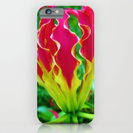 Vivid Gloriosa Lily iPhone Case