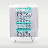 spires Shower Curtains featuring SPIRES IRRIGATION 2015 by Spires