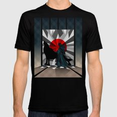 Spirit trapped in mirrors  MEDIUM Mens Fitted Tee Black