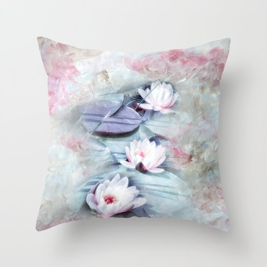 SUMMER LILY POND Throw Pillow