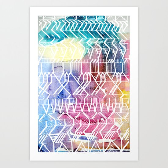 colorful Indians Art Print