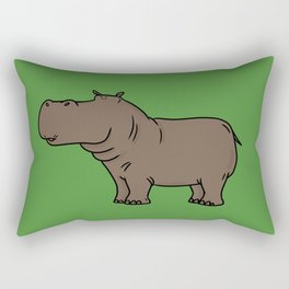 Hippo Rectangular Pillow