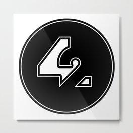 42 - Black Metal Print