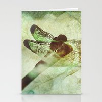 dragonfly Stationery Cards featuring Dragonfly by SpaceFrogDesigns