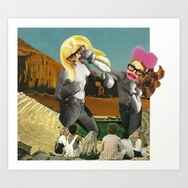 Barbie Brawl Art Print