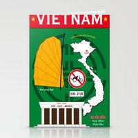 vietnam Stationery Cards featuring Vietnam Hanoi by CHR Design Posters