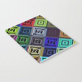 Cracked Multicolor Pattern Notebook