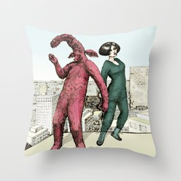 Dancing on the roof Throw Pillow