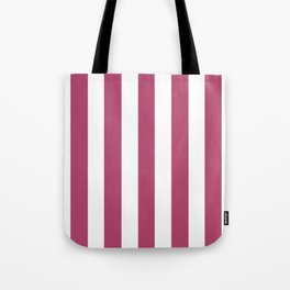 Irresistible purple - solid color - white vertical lines pattern Tote Bag