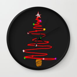 Blackboard Tree Wall Clock