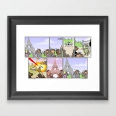 Asshole Eiffel Framed Art Print