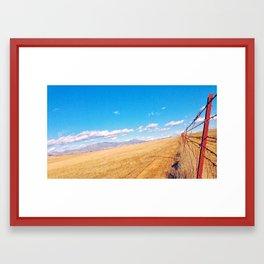 Red Fence Framed Art Print