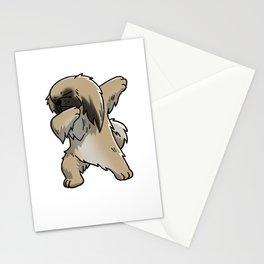 Funny Dabbing Pekingese Dog Dab Dance Stationery Cards
