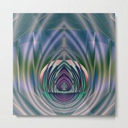 Fractal Teardrop Metal Print