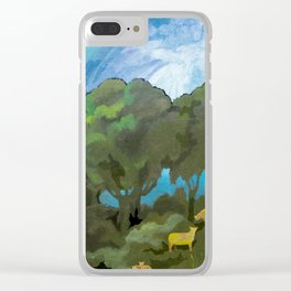 Brewing Storm With Sheep Clear iPhone Case