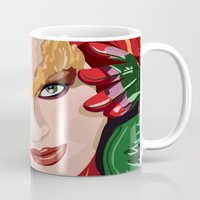 poison ivy Mugs featuring Poison Ivy  by Jordi Hayman Design
