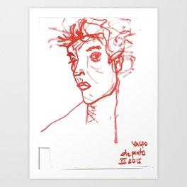 inspired in Egon Schiele 02 Art Print