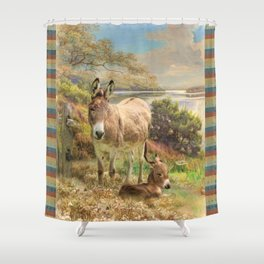Donkey Love Shower Curtain