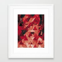 bowie Framed Art Prints featuring Bowie by Aivé Trujillo