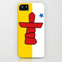 Nunavut territory flag- Authentic version with Inukshuk and blue star iPhone Case