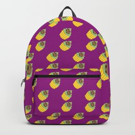 Dark Cookie Pixel Cupcake Pattern Backpack