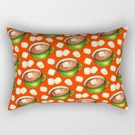 Hot Cocoa Pattern Rectangular Pillow