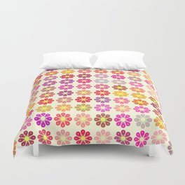 Multicolored floral pattern Duvet Cover