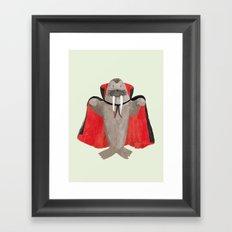 Vampire Walrus Framed Art Print