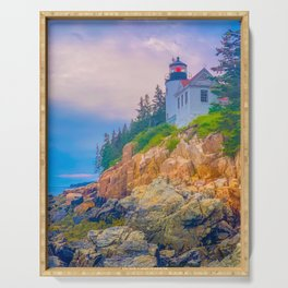 Bass Harbor Lighthouse Acadia National Park Color Serving Tray