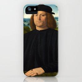 Portrait of Giovanni Cristoforo Longoni by Andrea Solario iPhone Case