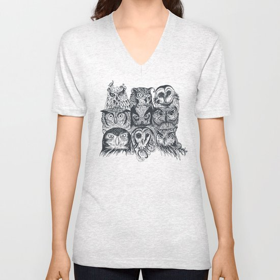 Nine Owls Unisex V-Neck